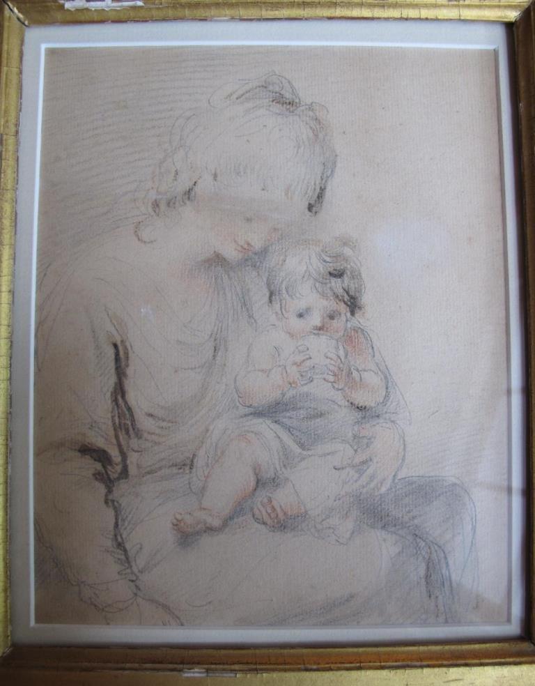 19th Century, pastel 195mm x 160mm