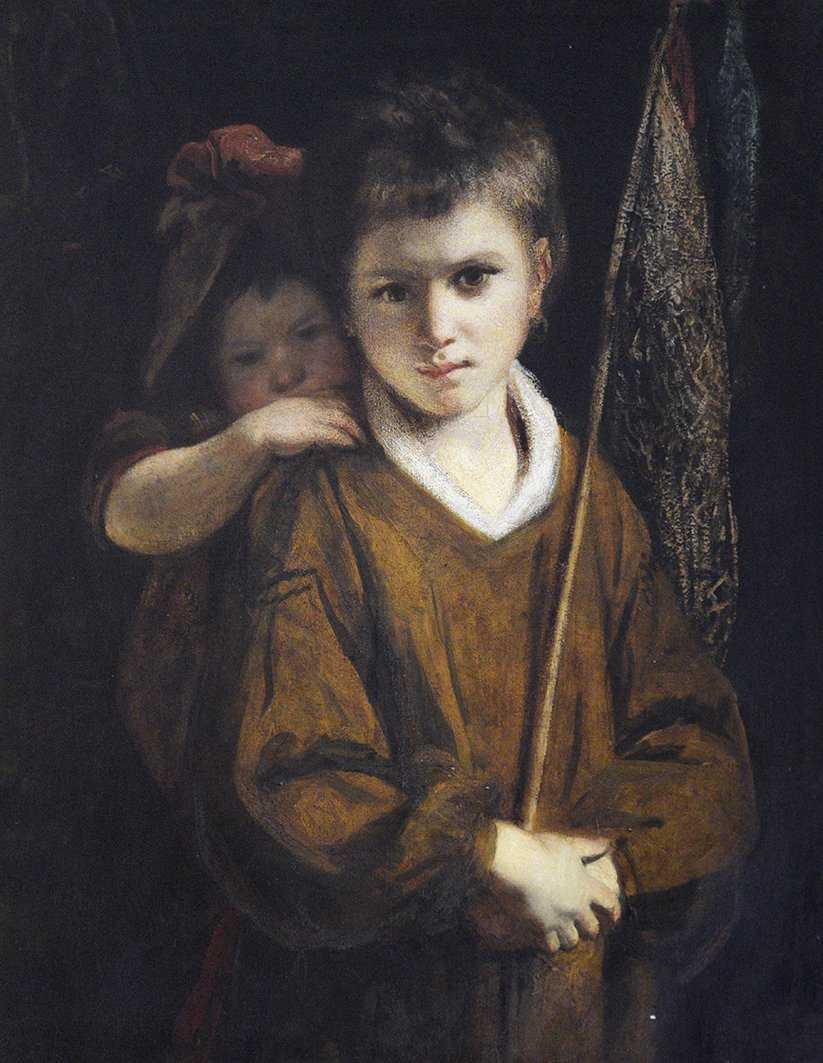 A Beggar Boy and His Sister