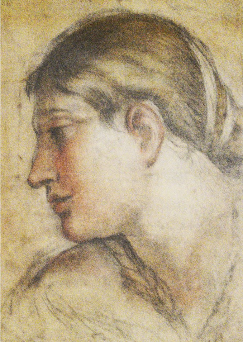 Coloured chalks, 515mm by 390mm. Cartoon for ceiling of Palazzo Barberini, Rome