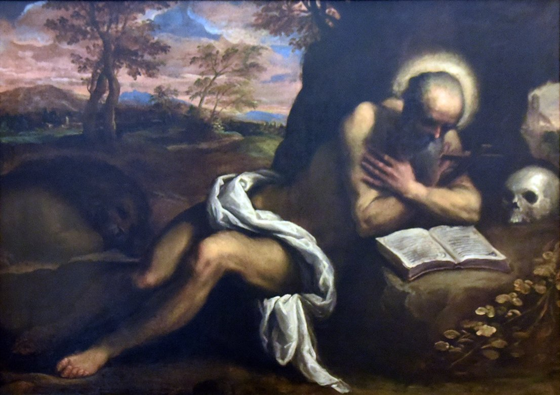 St Jerome Contemplating In a Landscape