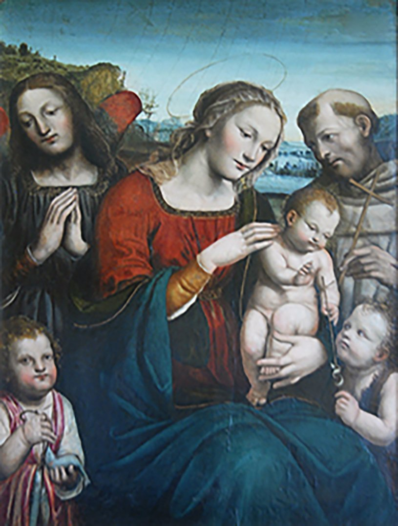 The Madonna and Child with the Infant St. John, St. Francis, Tobias and the Archangel Raphael