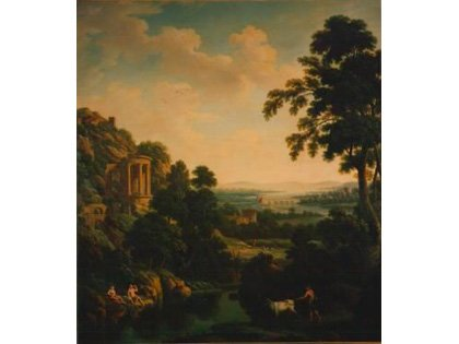 Classical Landscape with Temple of the Sybil (No.99) by George Lambert