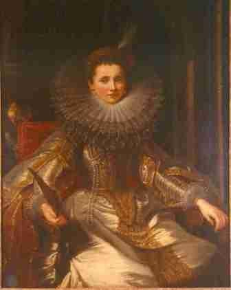 Presumed Portrait of the Marchesa Veronica Spinola Doria (No.28) by Sir Peter Paul Rubens, and studio