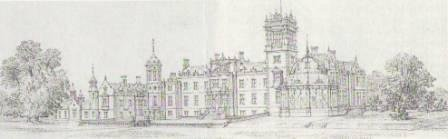 An anonymous architect's sketch (probably executed around August 1859) illustrating one of the grander schemes considered by Robert Campbell - but mercifully never implemented - for the enhancement of the house.