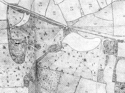 An estate plan of 1798 showing the construction of the park and gardens at Buscot by Edward Loveden