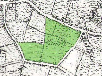 John Rocque's map of Berkshire (c.1760), showing the rural landscape before the construction of Buscot Park