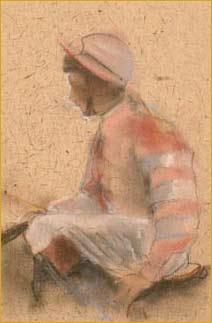 Sketchbook Study of a Jockey