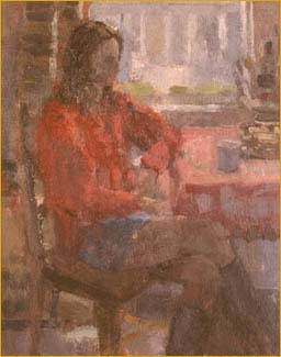 Signed l.r. Hilton. Oil on board. 24cm x 19cm