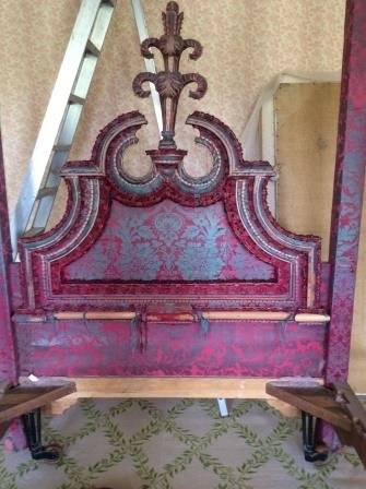 The headboard, pre-restoration, on removal day