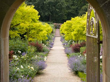 The archway entering the Four Seasons Walled Garden