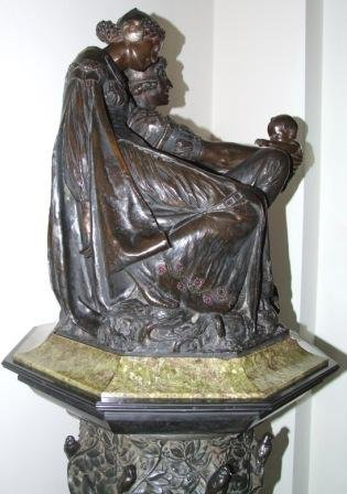 'Love's Coronet' bronze by J. Reynolds Stephens