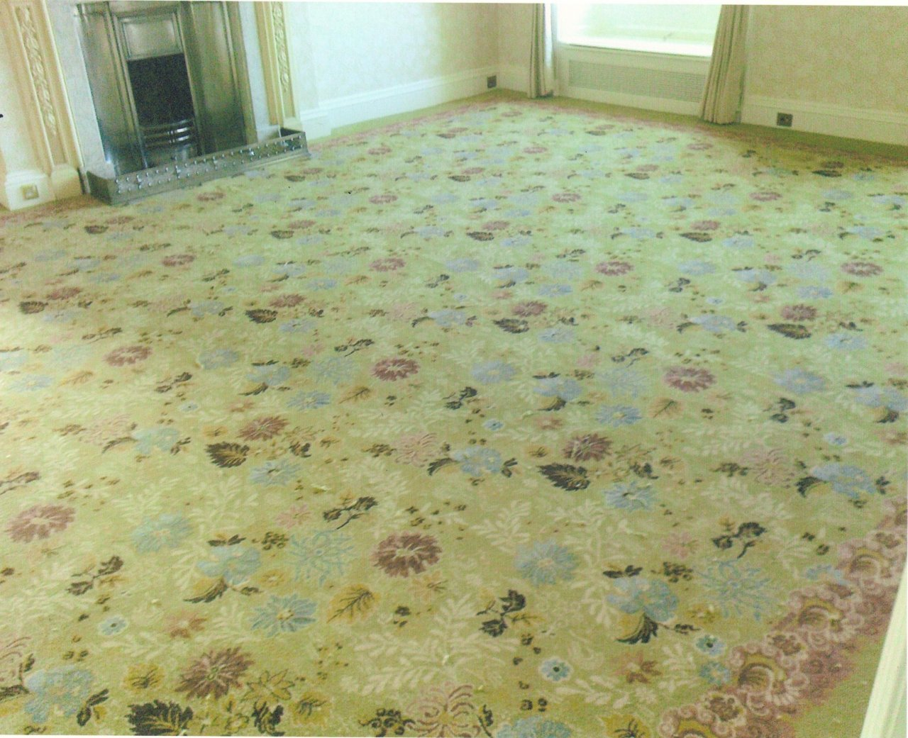 The new carpet laid March 2012, a 1890's Pre-Raphaelite design never previously executed.