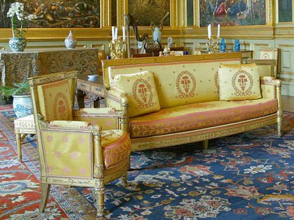 A suite of Empire giltwood seat furniture by Pierre-Antoine Bellange